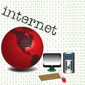 Internet — Stok Vektör