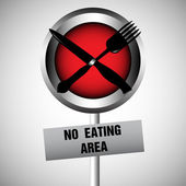 No eating area — Stock Vector