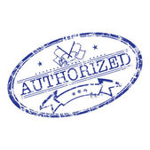 Authorized grunge rubber stamp — Stock Vector