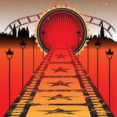 Red carpet — Cтоковый вектор