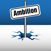 Ambition plate — Stock Vector