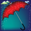 Red umbrella — Stock Vector