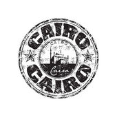 Cairo grunge rubber stamp — Stock Vector