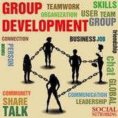 Group development — Stock Vector