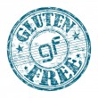 Gluten free grunge rubber stamp — Stock Vector