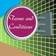 Terms and conditions — Stock Vector