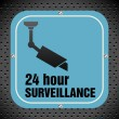 Stock Vector: Twenty four hour surveillance