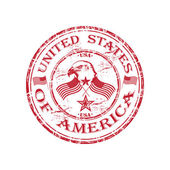 United States of America grunge rubber stamp — Stock Vector