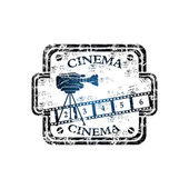 Cinema grunge rubber stamp — Stock Vector
