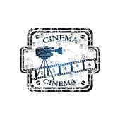 Cinema grunge rubber stamp — Stock Vector