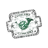 Concierto grunge rubber stamp — Vector de stock