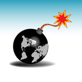 Earth as a bomb ready to blow — Stock Vector