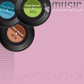 Music background with vinyl records — Vetorial Stock