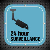 Twenty four hour surveillance — Stock Vector