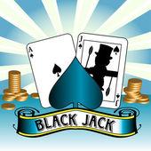 Cartes au blackjack — Vecteur