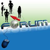 Forum — Stock Vector