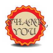 Thank you badge — Stock Vector