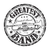 Greatest band rubber stamp — Stock Vector