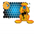 The bee queen — Stockvector