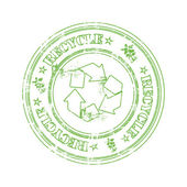 Green recycle stamp — Stock Vector