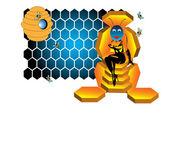 The bee queen — ストックベクタ