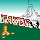 Overwhelming taxes — Stock Vector