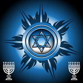 Jewish symbols — Stock Vector