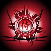 Samurai sign — Stock Vector
