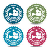 Film award stickers — Stock Vector