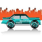 Carro de entrega gratuita — Vetor de Stock