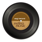 Retro music vinyl record — Stock Vector