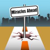 Miracles ahead — Stock Vector
