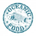 Oceanic food grunge rubber stamp — Stock Vector #39836423