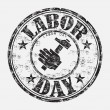 Labor Day grunge rubber stamp — Stock Vector