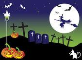 Cartão postal de halloween — Vetorial Stock