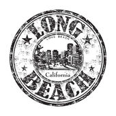 Long Beach California stamp — Stock Vector