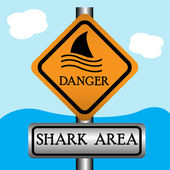 Shark area — Stock Vector