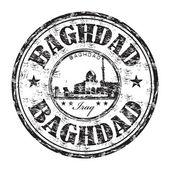 Carimbo de borracha de grunge de Bagdá — Vetor de Stock