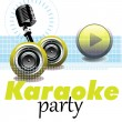 Karaoke party — Stock Vector