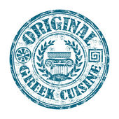 Original greek cuisine grunge rubber stamp — Stock Vector