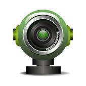 Green web camera — Stock Vector