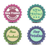 New product stickers — Stock Vector