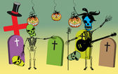 Party in the graveyard — Vector de stock