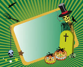 Halloween frame with tombstone — Stockvektor