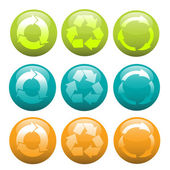 Recycle icons — Stock Vector