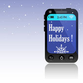Happy Holidays smartphone — Stock Vector