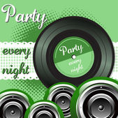 Party every night — Stock Vector