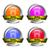 SSL secured icons — Stock Vector