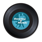 Dancing music vinyl record — Stock Vector