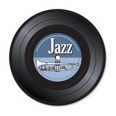 Jazz vinyl record — Stock Vector
